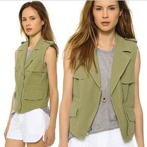 Army green Madewell Vest